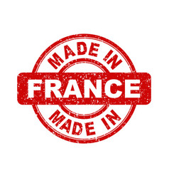 made in france red stamp on white background vector image