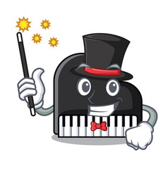 magician piano mascot cartoon style vector image