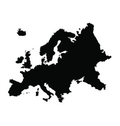 Map europe isolated black on vector