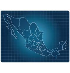 mexico dark map vector image