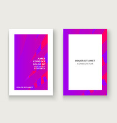 Minimal cover set design neon halftone pink vector
