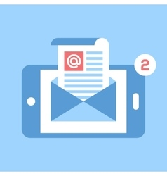 Mobile email vector