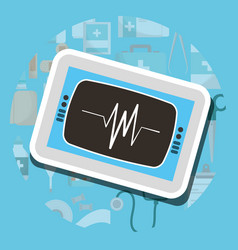 monitoring cardiology machine medical supply vector image
