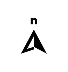 north arrow compass logo icon vector image