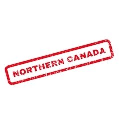 Northern Canada Rubber Stamp vector image