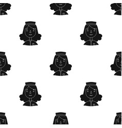 nurse icon in black style isolated on white vector image