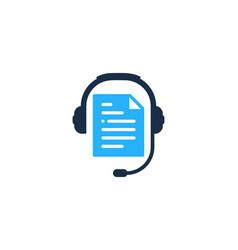 Paper podcast logo icon design vector