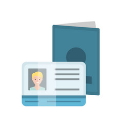 passport abd drivers license with male photo vector image