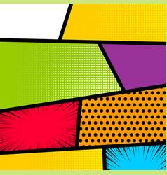 Pop art comic book strip background vector