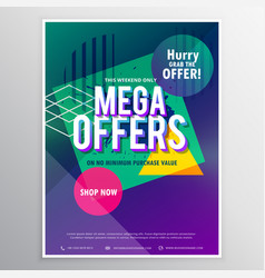 Promotional mega sale brochure flyer template vector