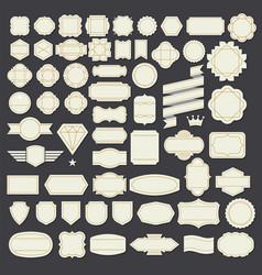 retro vintage frame labels design elements vector image