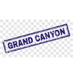 Scratched grand canyon rectangle stamp vector