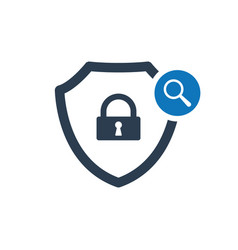 Security icon with research sign vector