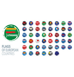 Set flags europe vector