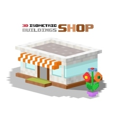 Shop market building vector image