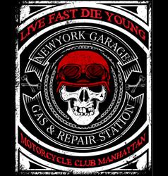 skull t shirt graphic design vector image