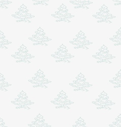 Small trees on a grey vector