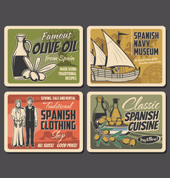Spanish food culture traditions spain vector