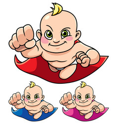 Super baby isolated vector