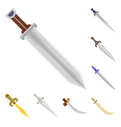 sword and dagger symbol vector image
