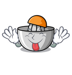 Tongue out juicer mascot cartoon style vector
