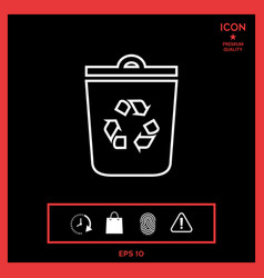 trash can recycle bin symbol icon vector image