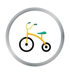 Tricycle icon in cartoon style isolated on white vector