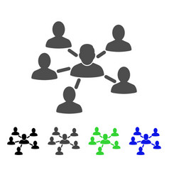 User connections flat icon vector