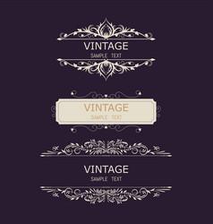 vintage decorations elements flourishes vector image