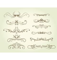 vintage decorative swirls vector image vector image