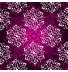 Vintage purple seamless pattern vector image