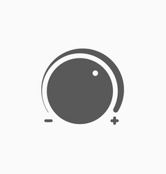 Volume control icon vector