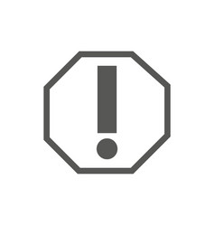 warning signal icon - ilustiration vector image