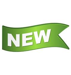 Wavy new sign vector