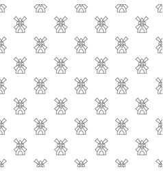 windmill pattern seamless vector image