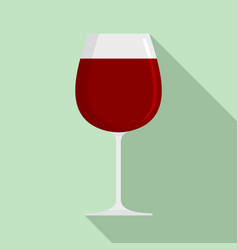 wine glass icon flat style vector image