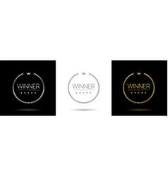 winner laurel wreath icons vector image