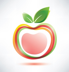 red apple symbol icon vector image