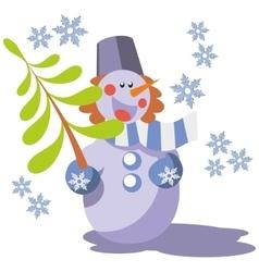 Snowman color 07 vector