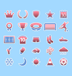 soccer match condition icon vector image