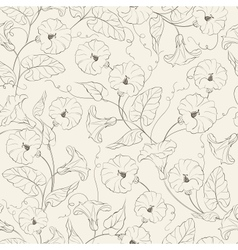 Bindweed flower seamless pattern vector image vector image