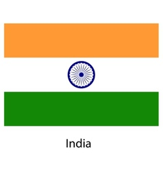 Flag of the country india vector image vector image