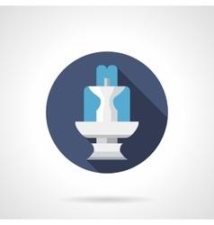 Fountain architecture round flat color icon vector image