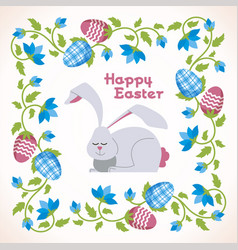 Happy easter - modern square card vector