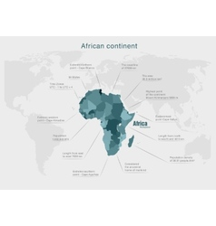infographics continent Africa green and gray vector image vector image