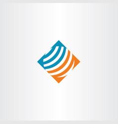 abstract globe logo symbol vector image vector image