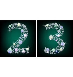 Crystal numbers vector image vector image
