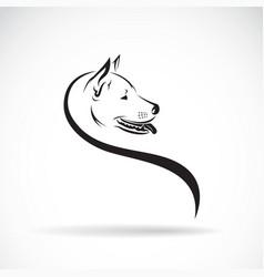 dog head on white background pet animals vector image