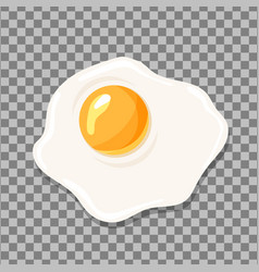 fried egg isolated egg icon vector image vector image