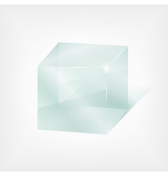 glass cube vector image